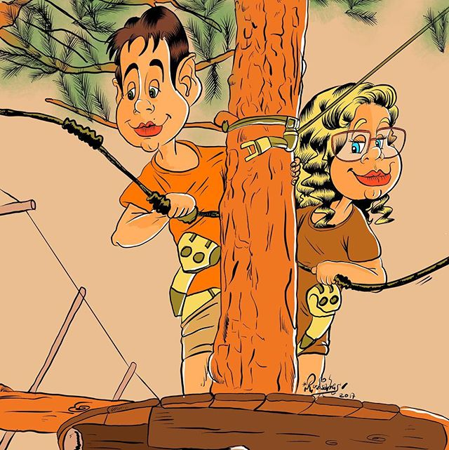 Mis niños en la casa del árbol...