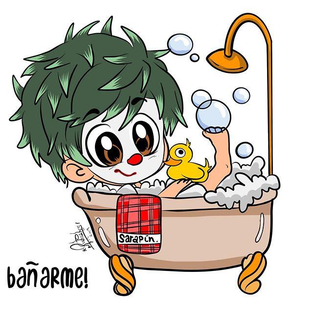 A Sarapín le encanta bañarse!