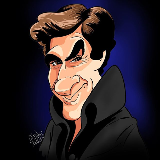 Caricature of @d_copperfield